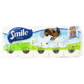 Smile Χαρτί Υγείας Τετράφυλλο Talc 10 Ρολλά X 145gr