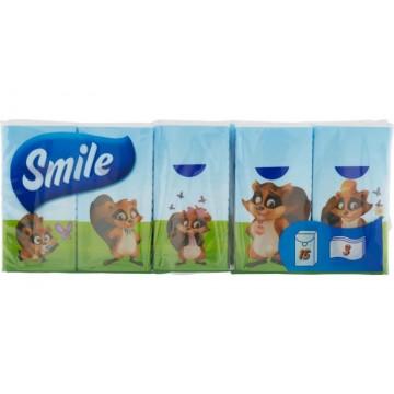 Smile Χαρτομάντηλα Τσέπης 3φυλλα Συσκευασία 10 Πακέτα