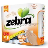 Zebra Daily XL Χαρτί Κουζίνας 3φυλλο 2 Χ 16.1 Μέτρα