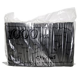 Καλαμάκια Μαύρα Freddo 1/1 Σελοφάν 18εκ 1000 TEM