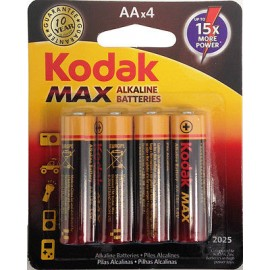 Kodak Max Αλακλικές Μπαταρίες AA 4ΤΕΜ