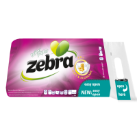 Zebra Soft Economy Χαρτί Υγείας 8ρολλά 3φύλλα Χ14Μ
